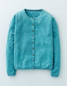 Cashmere Crew Cardigan WU052 Cashmere Cardigans at Boden