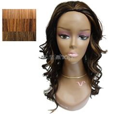 Vivica Fox Express Wig Olin - Color GM234 - Synthetic (Curling Iron Safe) Half Wig