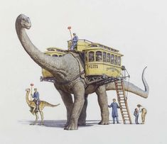 James Gurney Illustration - Dinotopia