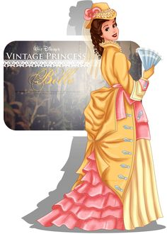 Vintage Princess - Belle by selinmarsou on DeviantArt