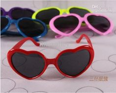 Wholesale Heart-shaped Sunglasses Candy colors Men And Women General Sunglasses, Free shipping, $0.87-1.06/Piece | DHgate