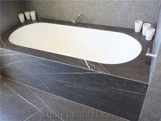 marblebathtub - Yahoo Image Search Results Grey Marble Bathroom, Marble Bathtub, Bathroom Floor Tiles, Bathroom Wall, Bathroom Interior, Wall Tiles, Bathroom Ideas, Mosaic Wall, Bathroom Inspiration