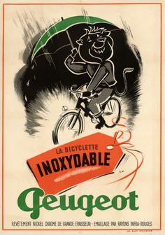 La Bicyclette Inoxydable Peugeot ~ Initials L.V.