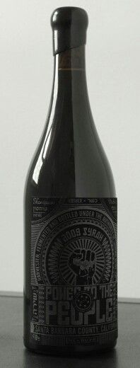Wine Labels - Weiss Brothers Wine - Power to the People Syrah 2009 (Kosher Wines) (Label designed by Yael Miller from Miller Creative) __[kosherwinemusings.com] #cBlack