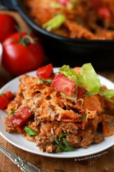 Layered Doritos Casserole is an easy family favorite recipe! Lean ground beef is seasoned with taco seasoning and salsa to create a delicious filling. Layers of Doritos create a delicious base for t Mexican Food Recipes, Great Recipes, Favorite Recipes, Recipe Ideas, Chicken Dorito Bake, Chicken Dips, Beef Dishes, Food Dishes, Main Dishes