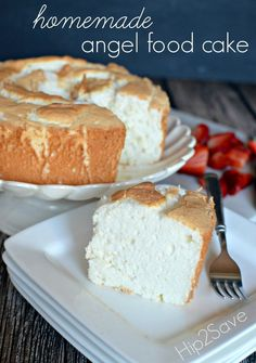 Homemade Angel Food Cake by Hip2Save. A light and fluffy cake that delights.