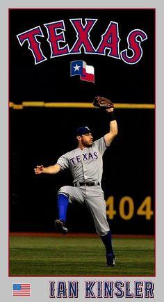 Ian Kinsler, Texas Rangers, Baseball Cards, Sports, Hs Sports, Excercise, Sport, Exercise