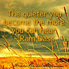 The Quieter you become, the more you can Hear. -  Ram Dass  #foodforthought #shhh #quiet #namaste #listeninthestillness  #loveit #life #nofilter #smile #fun