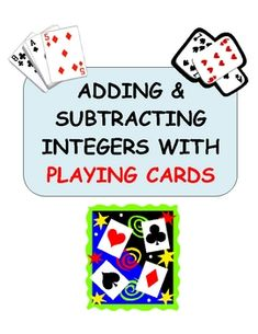 Students use playing cards and a template to perform adding and subtracting operations with integers.  Problems involving absolute value are includ...