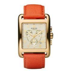 Michael Kors Leather Bracelet Square Watch