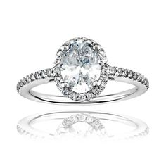 DK Jewel - available on Joolz! Gorgeous oval shaped diamond engagemnet ring.