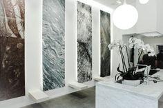 SHOWROOM Marmo Design Luxury Lucca LU   Retail Interior Design   Architettura Interni   Marble Design   Giovanni Giorgi Architettura Design Massa Carrara MS #marble #design #luxury #Panel #Marble #screen #light #portrait