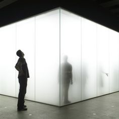 Blind Light (installation) | Anthony Gormley The works of shadows and silhouettes. The fogged glass effect