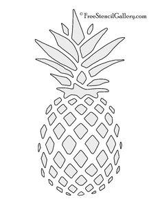 Pineapple Stencil | Free Stencil Gallery