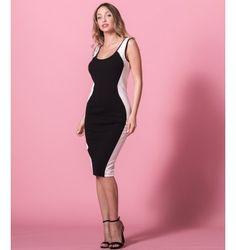Δίχρωμο Pencil Στενό Φόρεμα | Λευκό  - Μαύρο Formal Dresses, Black, Fashion, Dresses For Formal, Moda, Black People, Fashion Styles, Fasion, Gowns