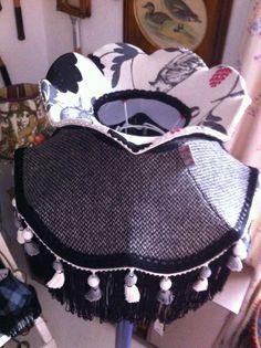 Victirian style harris tweed lampshade by wild lampshades
