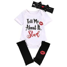 3pcs Christmas newborn baby girl clothes cute short sleeve cotton letter baby romper+leg warmers+bow headband baby clothes set //Price: $US $5.95 & FREE Shipping //     #bags