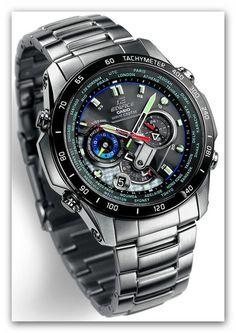Edifice EQW-M1000SV-1AER с подписью от Sebastian Vettel