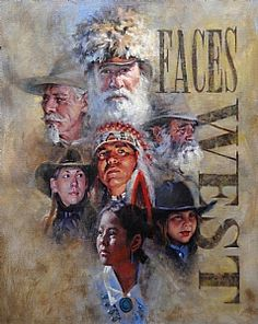 Faces West by Phil Beck Oil ~ kp