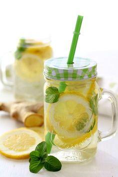 acqua detox limone zenzero e menta