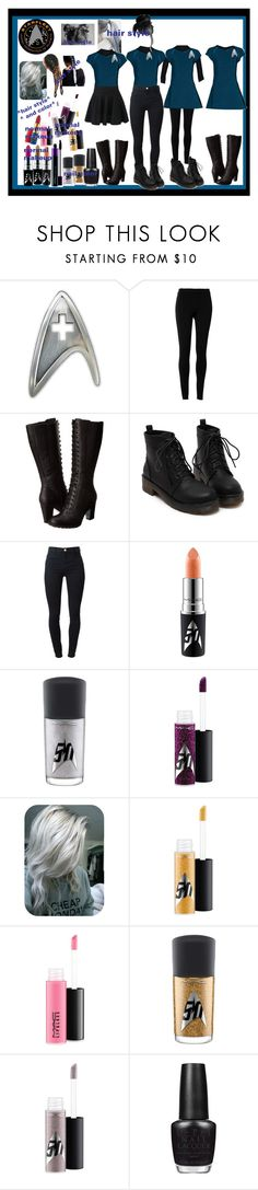 """""""starfleet med. officer"""" by thin-mint on Polyvore featuring Max Studio, Timberland, J Brand, MAC Cosmetics and OPI"""