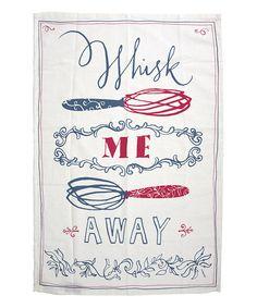 'Whisk Me Away' Tea Towel