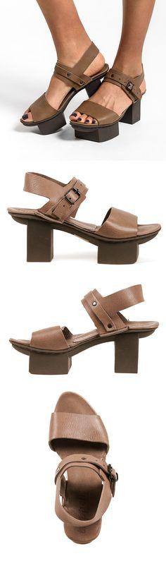 Trippen Gap Platform Sandal in Mushroom Brown | Santa Fe Dry Goods & Workshop #trippen #trippenshoes #trippenusa #happysole #trippenhappy #platform #shoes #sandals #spring #summer #fashion #style #uniqueshoes #uniquesandals #santafe #santafedrygoods