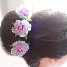 24pcs/lot Woman Chiffon Flower Hair Pins. Fashion Wedding Party Hair Jewelry. Free Shipping US $10.96