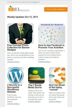 Minimalistic Email newsletter design - http://directory.pdpkapp.com/listings/category/email-newsletters/