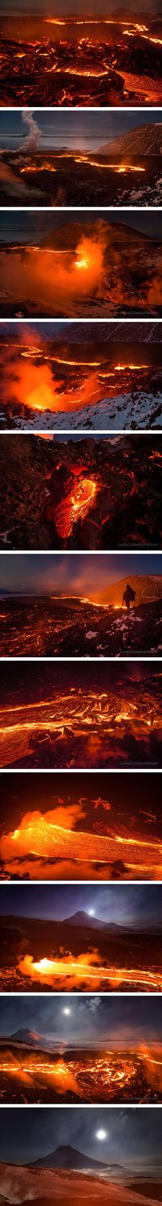 Active Volcano in Kamchatka, Russia.