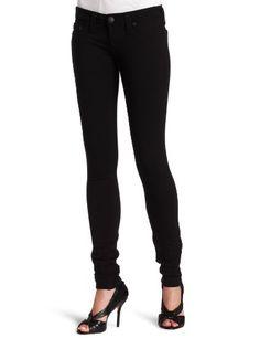 True Religion Womens Stella Ponte Skinny Pant, Black, 27