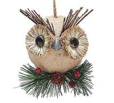 Burlap #Owl #Christmas Ornaments - Holiday Ornament Gift Decor Burton & Burton ~Amazon