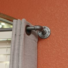 "Extra Long Industrial Curtain Rod (167""-236"")"