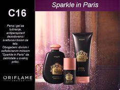 Sparkle in Paris kolekcija,   kupka i gel za tusiranje  dezodorans  losion za telo