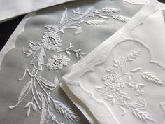 WHEAT Beautiful MADEIRA EMBROIDERY 16 pc Placemats Napkins AMAZING & ELEGANT