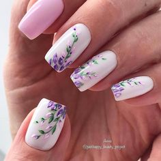 130 cute spring nail art designs to dress up your next mania . - 130 cute spring nail art designs to refresh your next mania page 13 Cute Spring Nails, Spring Nail Art, Summer Nails, Cute Nails, Pretty Nails, Cute Nail Art Designs, Nail Designs Spring, Nail Art Flowers Designs, Creative Nail Designs