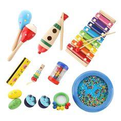 Kids Musical Instruments Percussion Toy Rhythm Band Value Set (10 PCS)   Toys & Hobbies, Educational, Music & Art   eBay!