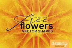 Cool geometric flower shapes in vector & bitmap.