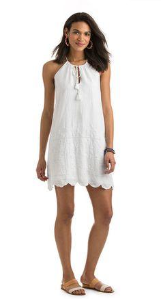 cdc20006d774 Eyelet Halter Dress Preppy Dresses, Vacation Style, Summer Stripes, Flutter  Sleeve, Dress