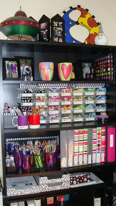 Copic and colored pencil storage etc.