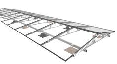 Zonnepanelen systeem voor plat dak (oost-west) met dakbedekking als epdm, pvc of bitumen