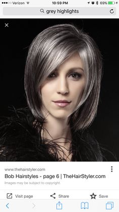 Take the plunge without aging yourself hair styles pinterest gray highlights darkest brown hair going gray dark brown wig bobs grey highlights hair toupee squares solutioingenieria Image collections