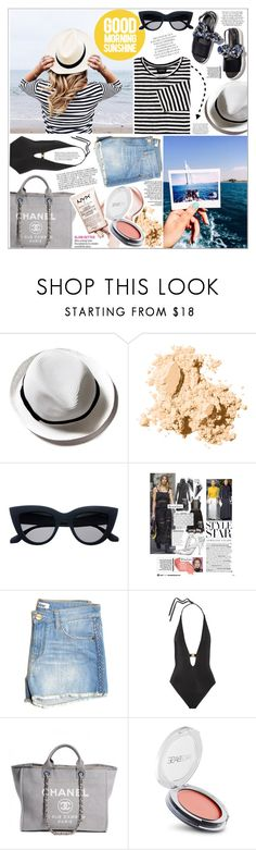 """""""GOOD MORNING SUNSHINE"""" by rinagq ❤ liked on Polyvore featuring Bobbi Brown Cosmetics, Shine, L'Agent By Agent Provocateur, Chanel and FaceBase"""