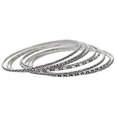 Set of 10 Silver Bangles For Mom's Special Day.