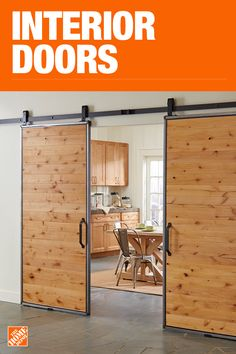 Boost your decor with an interior door that's stylish and functional. On trend, barn doors work in any room, as a bathroom door or bedroom door. For small spaces or closet doors consider a sliding door or bifold door. Customize or go with a prehung door. Container Home Designs, Home Improvement Projects, Home Projects, Home Renovation, Home Remodeling, Sliding Door Design, Barn Door Designs, Prehung Doors, House Doors