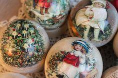 """Купить Набор елочных шаров """"Милые сюжеты"""" - шары на елку, шары новогодние, елочные игрушки"""