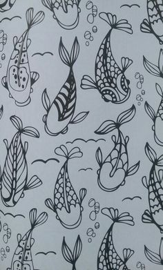 Draw It Out; Draw The Stress Out of Your System with this Zentangled Goldfish. Be Calm Start Coloring!  From \