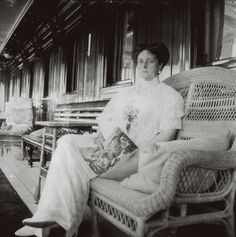 "Empress Alexandra Feodorovna of Russia on board the Imperial Royal yacht,the Standart. ""AL"""