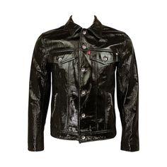 Damien Hirst / Levi/ Warhol Factory Mens 100% Patent Leather Jacket