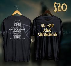 c8e589446e5 All Hail King Killmonger Black Panther Shirt